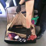 Украинка спрятала сына в чемодане, чтобы провезти в Польшу